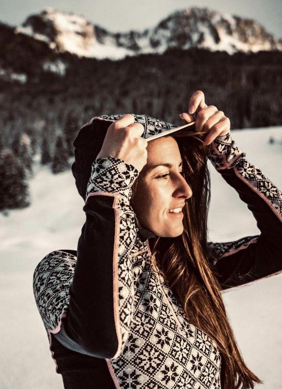 Estelle Peretto ski rando yoga
