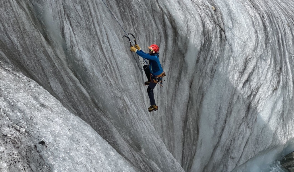 Ecole de glace Guillaume chamonix Mammut Top paysage