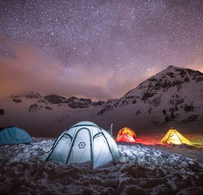 PROGRAMME DU SÉJOUR BASE CAMP FREERANDO SKI SPLITBOARD PULKA MILLET MOUNTAIN BIVOUAC