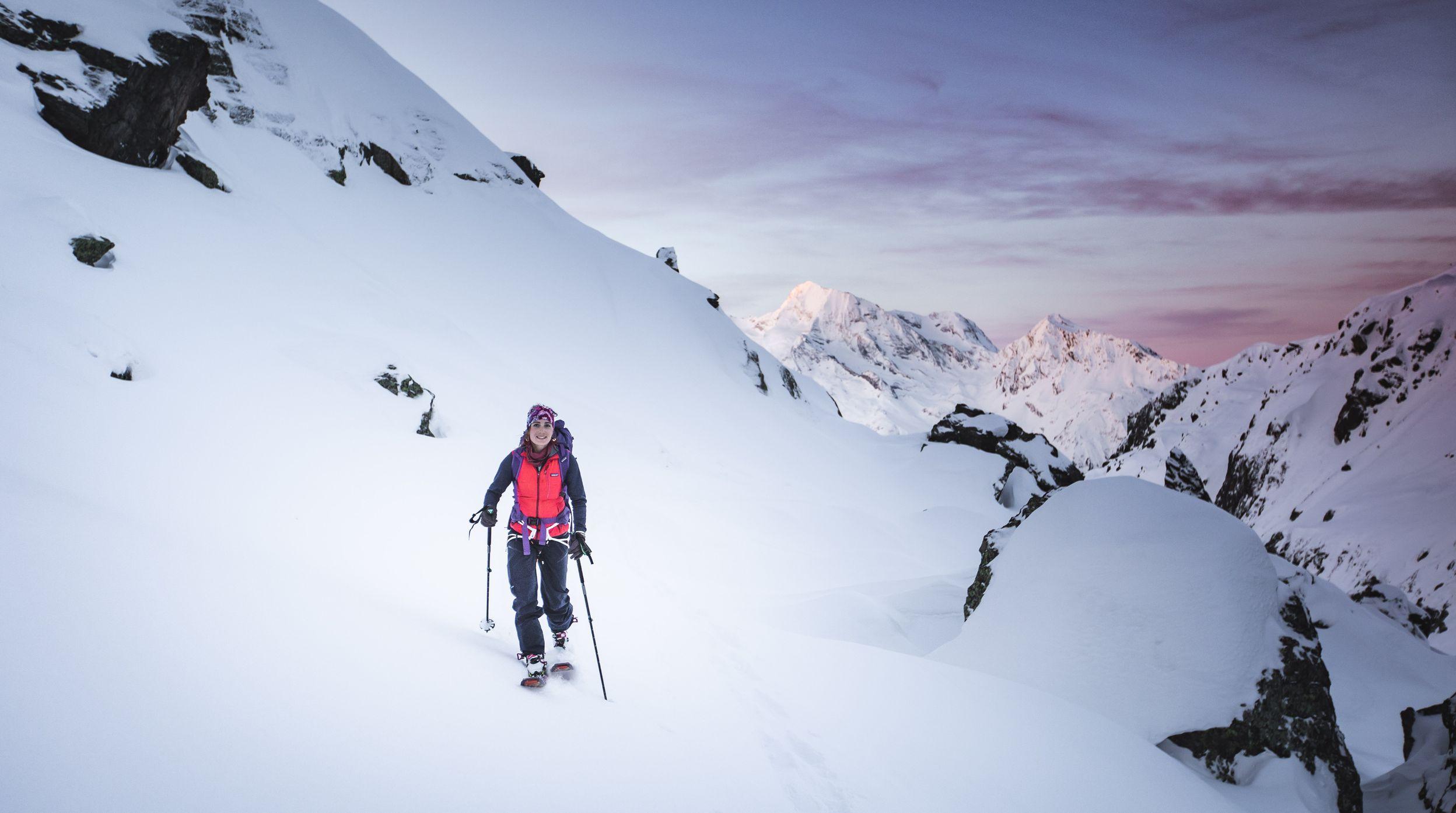 Lise BILLON Séjour Picture Shelter Snowboard refuge ruitor Nathan Pyr