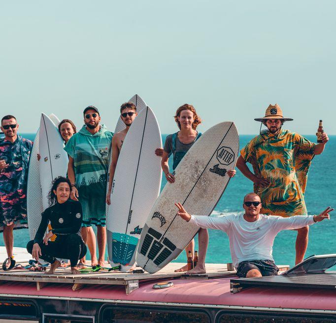Surf bus trip
