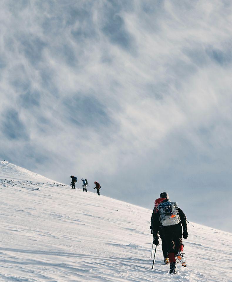 Alpiniste glacier