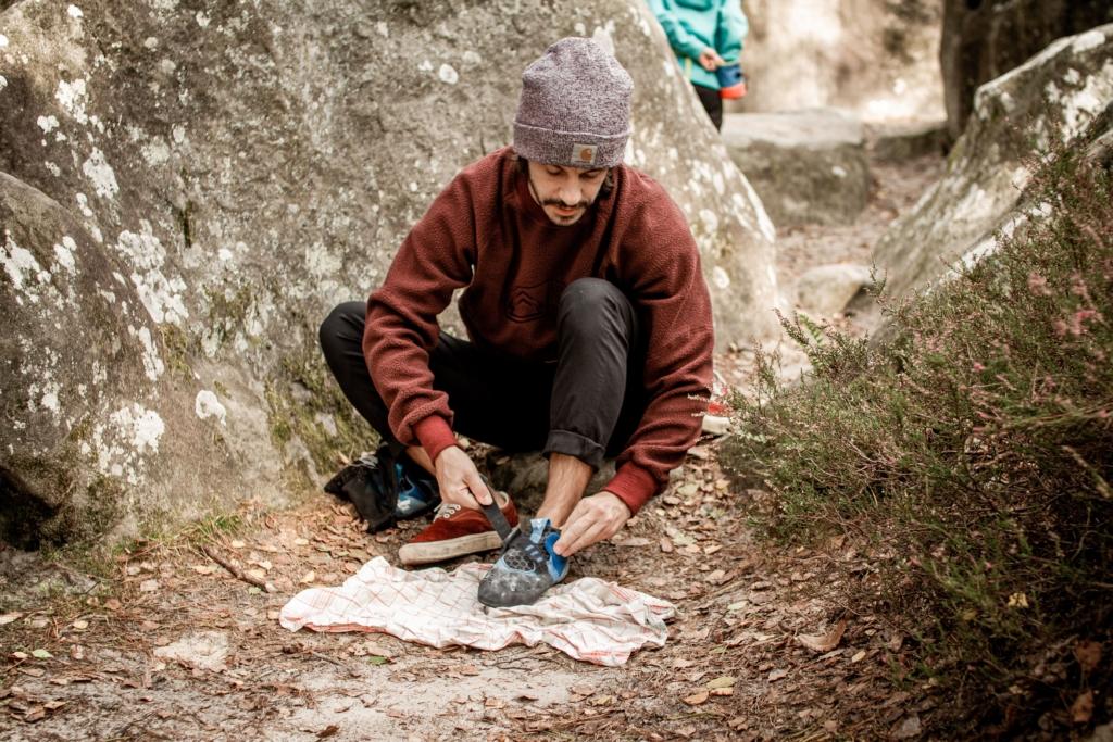 2 AMBASSADEUR athlète Maël Serre Grimpe Escalade Bloc Fontainebleau Looking For Wild