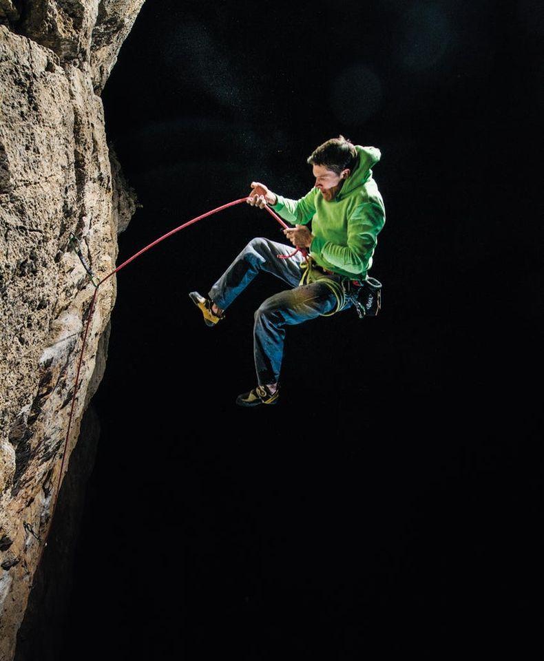 Top Escalade chute thomas-schermer-climber